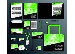 绿色半调图案VI设计