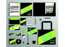 绿色条纹VI模板