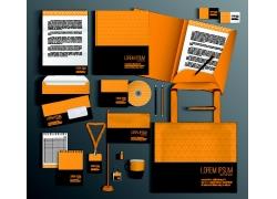 橙色三角形VI设计