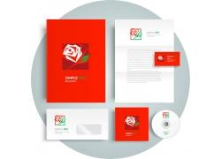 玫瑰花logoVI设计