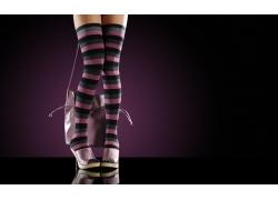 穿长袜的性感女人