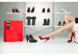 购物美女美腿摄影