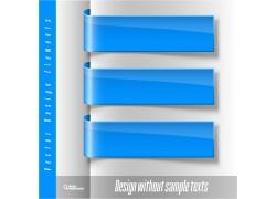 蓝色丝带标签设计