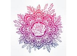 梦幻花卉图案插画