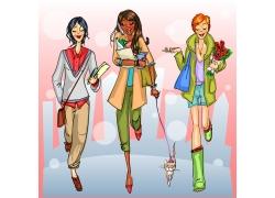 时尚卡通女孩图片