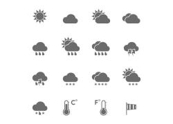 太阳天气预报按钮图标图片