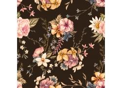 复古热带花朵花卉