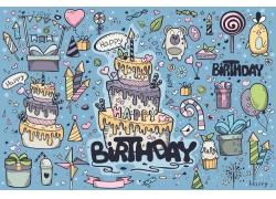 生日蛋糕卡通漫画