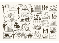 手绘商务信息图表