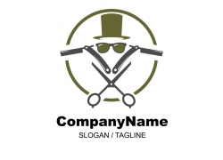 男士美发造型logo设计