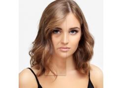 美容前后肌肤对比