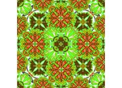 绿色花朵无缝拼接背景