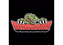 卡通恐龙徽标设计