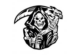 死神插画徽标设计
