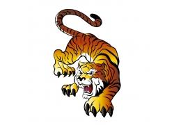 卡通老虎徽标设计