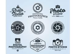 黑白照相机标志