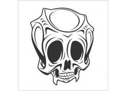 抽象骷髅T恤印花设计