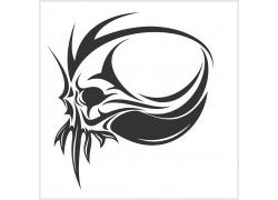 骷髅花纹T恤印花