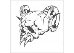 羊角怪兽T恤印花
