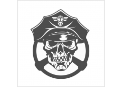士兵骷髅T恤印花设计