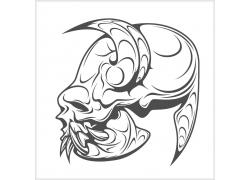 怪物头骨T恤印花设计
