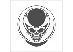 外星人骷髅T恤印花设计