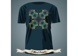 传统花纹T恤印花设计