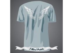 翅膀T恤印花设计