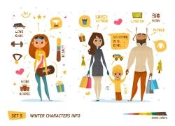 购物的家庭图片