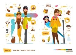 滑雪的情侣夫妻图片