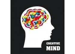 创意彩色大脑