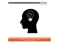创意大脑灵感主题海报