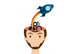 大脑齿轮火箭