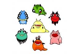 彩色卡通怪物图片