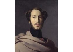 安格尔人物肖像油画