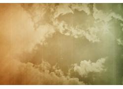 彩色天空云朵背景