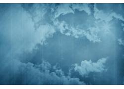 蓝色天空白云背景
