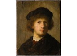 欧洲男子人物油画