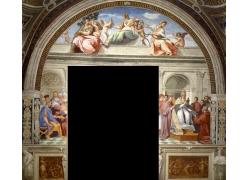 宗教人物和天使壁画
