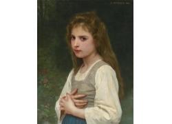 时尚女孩肖像画图片