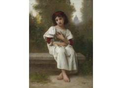 欧洲女孩人物肖像画图片