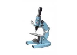 可爱卡通显微镜