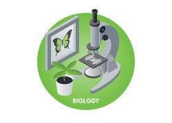 相框植物与显微镜