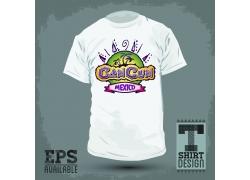 夏日椰树T恤印花设计