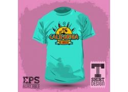 椰树T恤印花设计