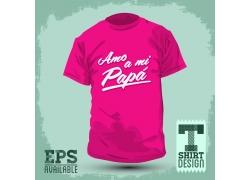 英文花纹T恤印花设计