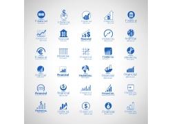蓝色互联网商务标志