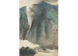 张大千山水风景画