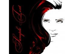时尚美发模特插画图片