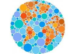 抽象的圆圈地图图片